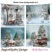 Winter Scene Backgrounds Set 1