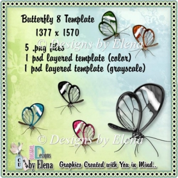 Butterfly 8 Template