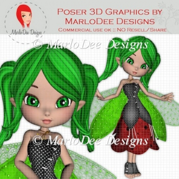Ladybug Fairy Cookie D1 Poser Graphics