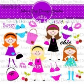 Chic Chick Digital Clipart Set