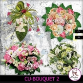 Wedding or festive bouquets of flowers in pastel colors- pack 2