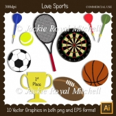 Love Sports clipart Elements