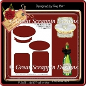T039 Layered Label or Topper Template *PNG and PDF*