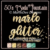 50's Soda Fountain Marlo Glitter Photoshop Styles