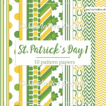 St. Patrick's Day Colors 1 - Pattern Papers 2