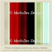 Pitted Cherries A4 size Card Stock Digital Papers Package