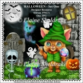 Halloween Set One Designers Resource CU - PU - PNG