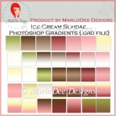 Ice Cream Sundae Photoshop Gradients {.grd format}