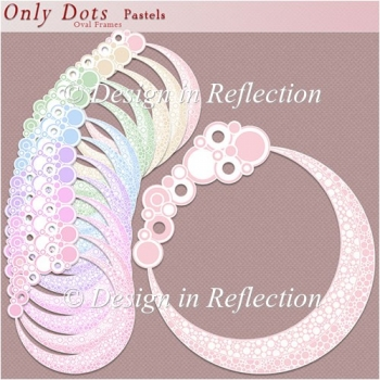 Only Dots Oval Frames - Pastels