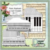 Piano, Keyboard and Card Template 4