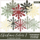 Christmas Holiday Package 1 Snowflakes by Marlo
