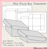 Mini Pizza Box Templates