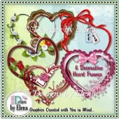 Decorative Heart Frames CU