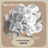 Designer Resource Fabric Paper Roses CU4CU