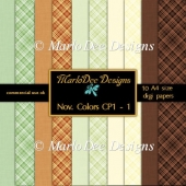 November Color Palette 1 A4 size Digital Papers by Marlo