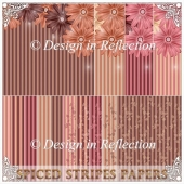 Spiced Stripes Papers