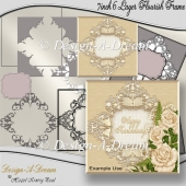 7inch 6 Layer Flourish Frame