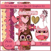 Owl Always Love You! CU Graphics Kit Taster Kit