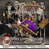 CU_Scary Halloween Skeletons
