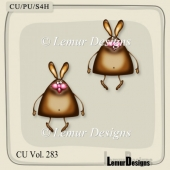 CU Vol. 283 Rabbits Bunny by Lemur Designs