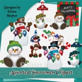 Assorted Snowmen Clipart