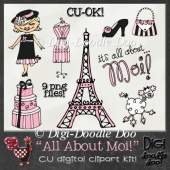 All About Moi! Fun French themed CU clipart