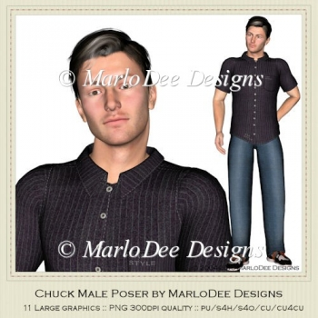 Chuck Male Poser Graphics by MarloDee Designs