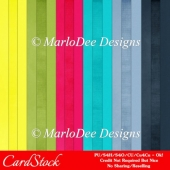 Ocean Blue A4 size Card Stock Digital Papers Package