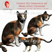 Calico Cat Graphics by MarloDee Designs