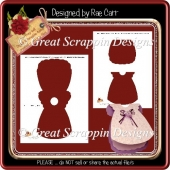 T043 Baby Dress Card Template *PNG *