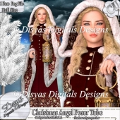 CHRISTMAS ANGEL POSER TUBE PACK CU