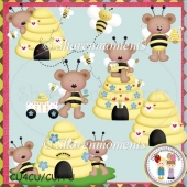 Bee Hive Bears Designer Resource Graphic