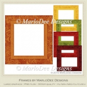 Fall Season 1 Colors Frame Graphics pkg 5