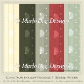 Christmas Holiday Package 1 Digital Papers