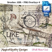 Brushes ABR - PNG Overlays Set 4