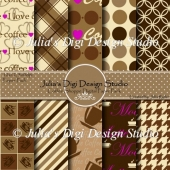 Coffee Shoppe Digital Paper Pack