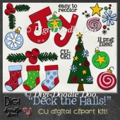 Christmas - Deck the Halls! CU clipart