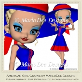 American Girl Cookie Poser Graphics by MarloDee Designs