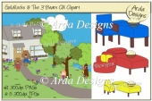 Goldilocks & The 3 Bears CU Clipart