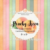 Peachy Keen 8x8 Color Palette Cardstock Texture Backgrounds