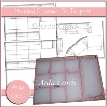 Hanging Organiser And Note Pad CU Template