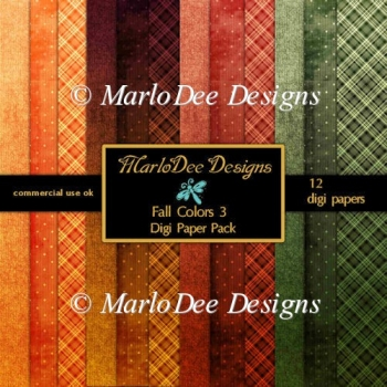 Fall Colors 3 A4 size Digital Papers Package