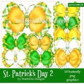 St. Patrick's Day Colors 2 - Butterfly Graphics 2