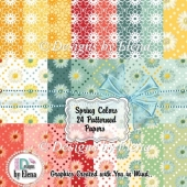 Spring Color Patterned Papers 01