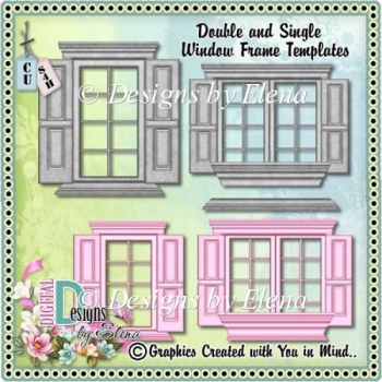Single and Double Window Frame Templates