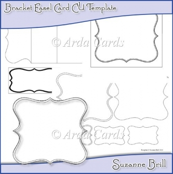 Bracket Easel Card CU Template
