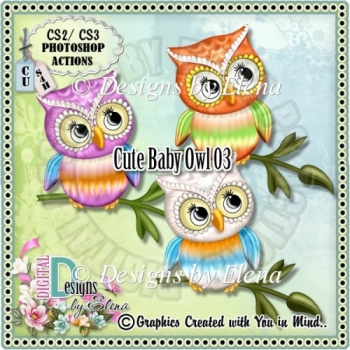 Cute Owl 03 PS Action