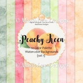 Peachy Keen 8x8 Color Palette Watercolor Backgrounds