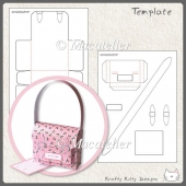 Mini Satchel Gift Box Template