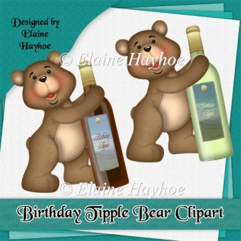 Birthday Tipple Bear Clipart